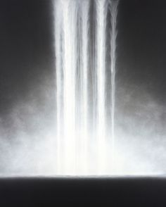 but does it float #white #water #b&w #& #black #painting #waterfall