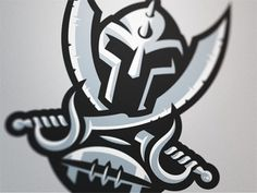 Warriors4 #vector #warriors #helmet #swords #logo #football