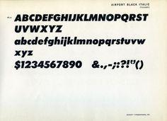 Specimen of the Airport Black Italic font #type #specimen #typography