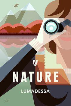 Nature Explorer poster #poster #illustration #graphic design print