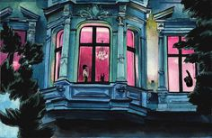 #window #moscow #illustration