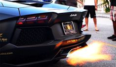 Video: Lamborghini Aventador 'Batventador' Spitting Flames #flames #aventador