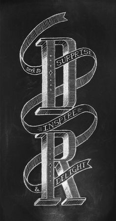 Daniel Richards Chalk Lettering on Behance