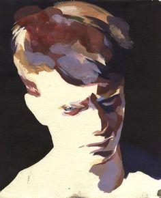 The Fox Is Black #portrait #painting