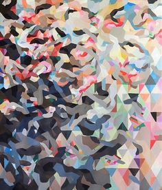 Helen Gory Galerie #painting #pattern #color #kate tucker