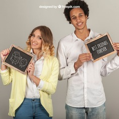 Smiling couple holding slates Free Psd. See more inspiration related to Mockup, Template, Woman, Man, Girl, Quote, Face, Smile, Happy, Presentation, Couple, Chalkboard, Mock up, Boy, Chalk, Drawing, Female, Young, Up, Happy face, Women face, Guy, Holding, Showcase, Stylish, Slate, Smiling, Mock, Joyful, Presenting, Showing and Slates on Freepik.