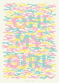 OH MY GIRL! event poster. typography, poster design: RYOTA Mishima #typography #design #poster #color