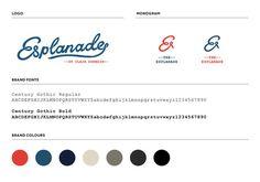 Esplanade // Brand development by Hardhat #hardhat #branding #restaurant