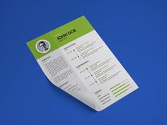 Free Simple Green CV Template