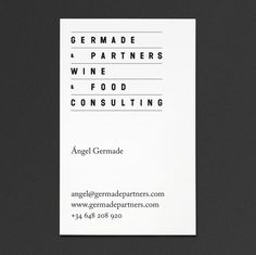 "Ã""scar Germade at iainclaridge.net #business card"