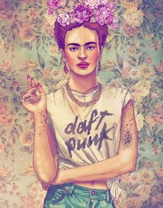 NiceFuckingGraphics! #punk #kahlo #hipster #daft #frida