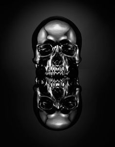Designersgotoheaven.com - Skull by SPENCER... - Designers Go To Heaven #dead #skull #black