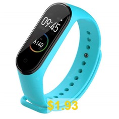 Silicone #Replacement #Bracelet #Strap #Wrist #for #Xiaomi #Mi #Band #4 #- #LIGHT #BLUE