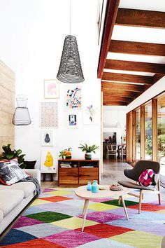 inside out magazine colorful living room