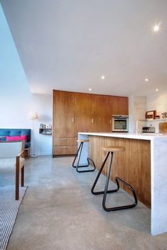 contemporary kitchen by Andrew Snow Photography #design #stool