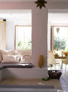 a converted farmhouse in grenada, spain | the style files #interior #couch #design #white