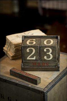 vintage calendar #vintage #calendar #numbers