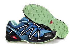 Trail running shoes Mens Salomon Speedcross 3 Athletic Sports Outdoor blue black silver