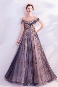 eDressit New Shiny Beads Purple Tulle Party Evening Dress (36223606)