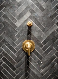 #herringbone #shower #tile
