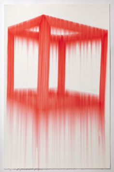 Cube, Red (series #2). 2011nMarker, gloss medium on papern26 x 40 n