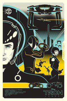 Google Reader (1000+) #tron #modern #design #retro #poster