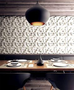 Penta Modular Tile with a Geometric Pattern by KAZA Concrete - #wallcoverings, #walls, #walldecor