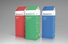 SwissMilk | Ubersuper #packaging #helvetica #swiss