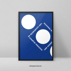 Use constraints as creative resource #advice #poster #creative #dots #system #grid www.apapez.com