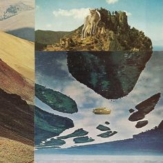 once i was afraid of heights 8X8 collage art print by livingferal #islands #print #collage #etsy