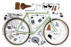 Things Organized Neatly #layout #bike #components #neatly #pieces