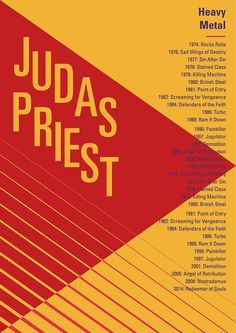 Judas Priest poster inspired by swiss style  #swissstyle