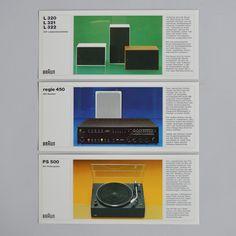Braun High Fidelity gerate und systeme ca 1972 via www.dasprogramm.org