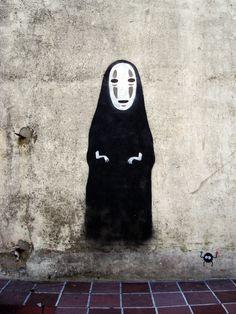 Kaonashi (ByMatttness) #spirited #away #mural