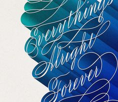 Everything is Alright – Illusion - The Most Amazing Creations in Art, Photography, Design, Technology and Video. #typography