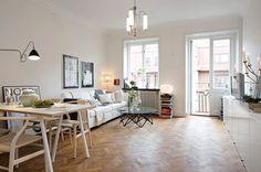 The Design Chaser: Homes to Inspire | Small in Sweden #interior #design #deco #livingroom #decoration