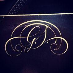 Typeverything.com G.S. monogram on a Gloria Scott album from 1974. #monogram