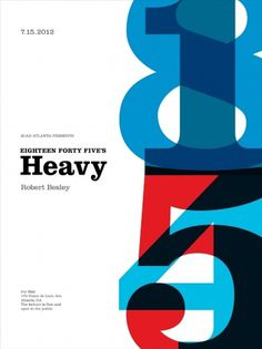 Stephany Gill | Heavy #gill #swiss #modern #stephany #poster #numbers #clarendon