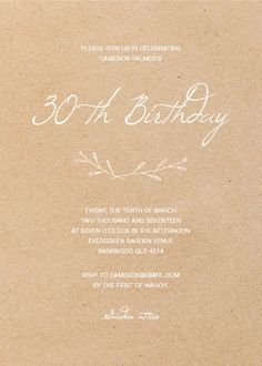 Rustic Birthday- Birthday Invitations #birthday #invitation #birthdayinvitation #paper #cards #digitalcard #design #print #whiteink #digita