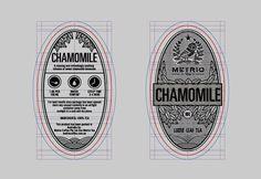 Metrio Tea on the Behance Network #chamomile #grid #ovals #logo #typography