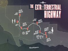 The Extraterrestrial Highway #travel #highway #flat #ufo #aliens #roadtripperscom #roadtrippers