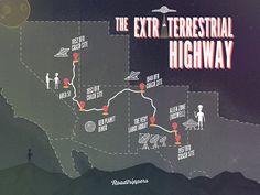 The Extraterrestrial Highway #flat #roadtripperscom #roadtrippers #travel #aliens #highway #ufo