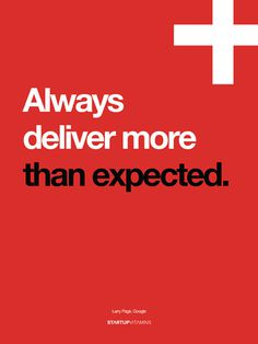 Always deliver more than expected #helvetica #red #plus #google+