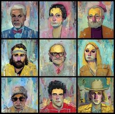 The Royal Tenenbaums by Rich Pellegrino | Reelizer #tenenbaums #painting #royal