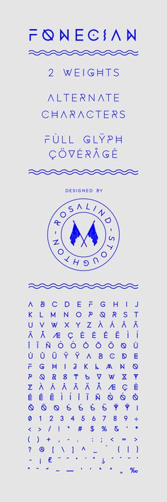 Fonecian Typeface on Behance #simple shapes