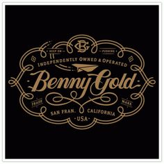 Clark Orr Design Company - Custom Illustration & Design - Benny Gold, Swirl Label