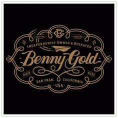 Clark Orr Design Company - Custom Illustration & Design - Benny Gold, Swirl Label