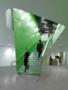 BSA Space by Höweler + Yoon Architecture/MY Studio | Boston | american-architects.com #stairs #color #architecture