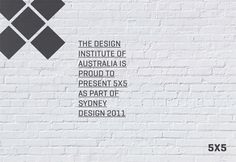5 X 5 #fivebyfive #2011 #sarita #sydneydesign #sydney #design #graphic #5x5 #saritawalsh #five #minimal #poster #australia #designinstitute #blackandwhite #walsh