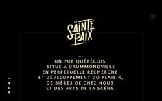 La Sainte Paix quebec pub french black yellow webdesign handwritten calligraphy font logo logotype site of the day sotd modern minimal beau